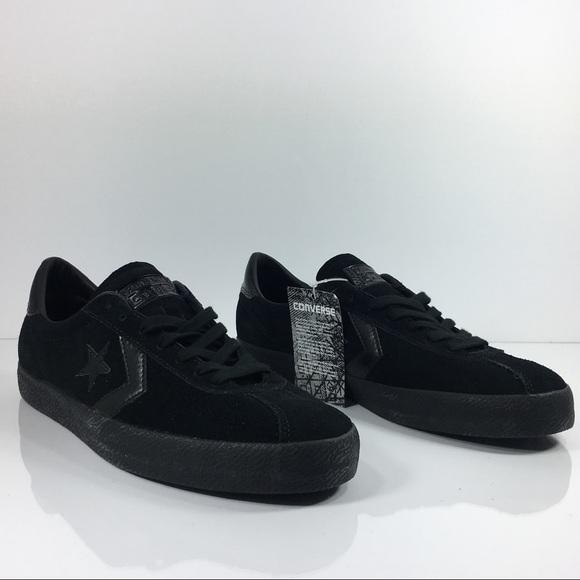 1ee42589ebf02b Converse Breakpoint OX Black Suede Sneakers